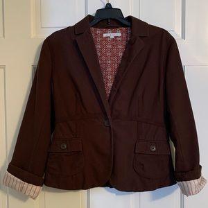 Brown Cabi 100% Cotton blazer